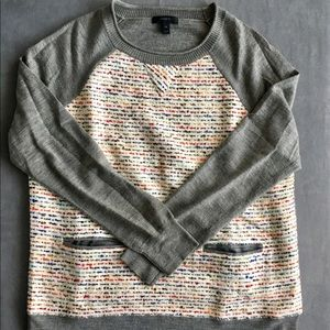 J. Crew Tweed & Merino Wool Sweater Top (M)